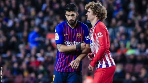 Luis Suarez's position could be under threat due to Antoine Griezmann's arrival at the Nou Camp