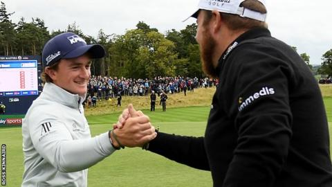 Dunne and Lowry are are eight under par after the first round