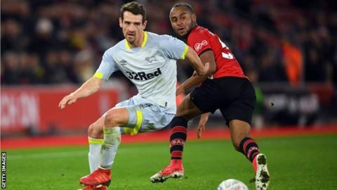 Craig Bryson playing for Derby against Southampton