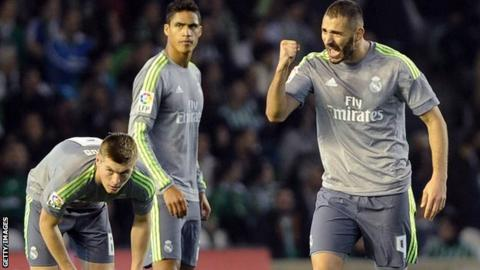 Real Madrid lose ground after Real Betis draw
