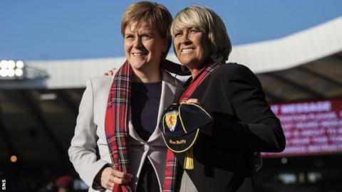 Nicola Sturgeon and Rose Reilly