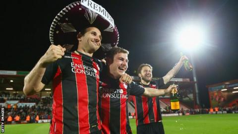Bournemouth win promotion from the Championship