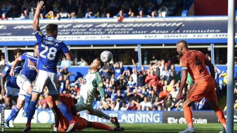 Birmingham City celebrate Lukas Jutkiewicz's equaliser
