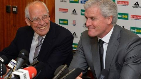 Peter Coates appointed Mark Hughes as manager in May 2013