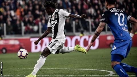 Moise Kean steps up in Ronaldo's absence to save Juventus
