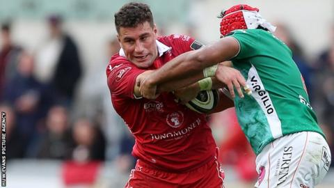Scarlets centre Kieron Fonotia has been banned for three weeks