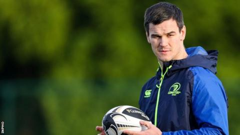 Johnny Sexton took a limited part in Leinster training on Tuesday