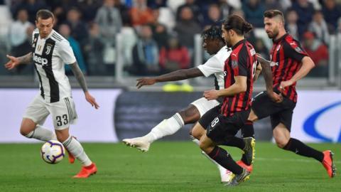 Moise Kean scores against Milan