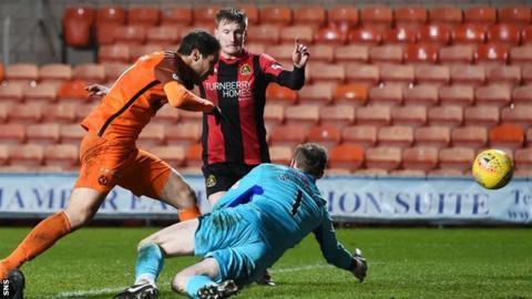 Bilel Mohsni nets for Dundee United against Dumbarton