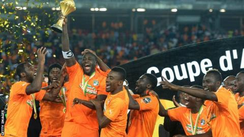 Ivory Coast celebrate winning the 2015 Africa Cup of Nations