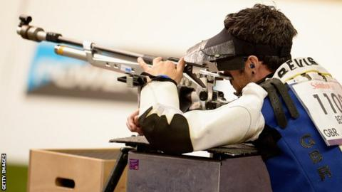 GB shooter James Bevis at London 2012