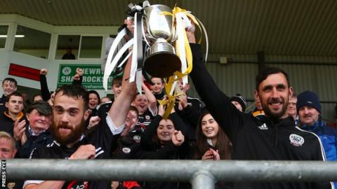 Kilcoo celebrate their Down championship success at Pairc Esler in September