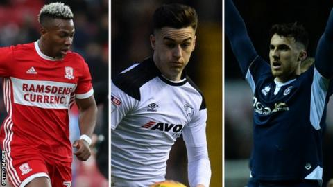 Adama Traore, Tom Lawrence and Lee Gregory