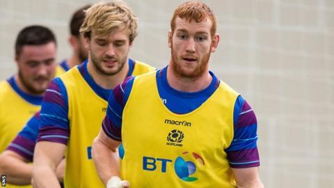 Scotland forward Rob Harley