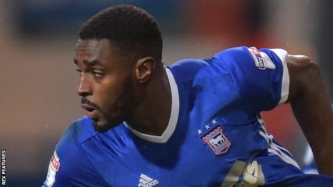 Mustapha Carayol in action for Ipswich.