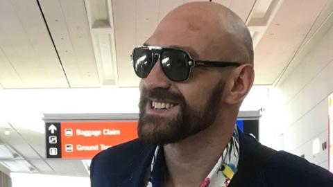 Tyson Fury at the airport, leaving Las Vegas