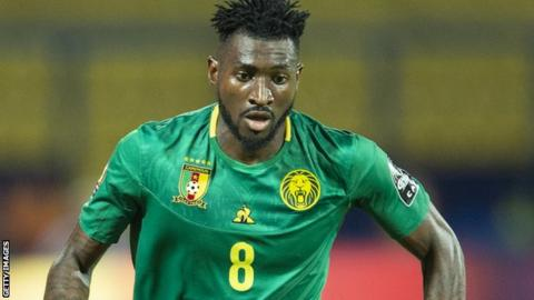 Andre-Frank Zambo Anguissa in action for Cameroon