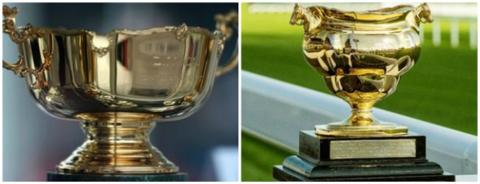 Pictures of the current Gold Cup and the original version
