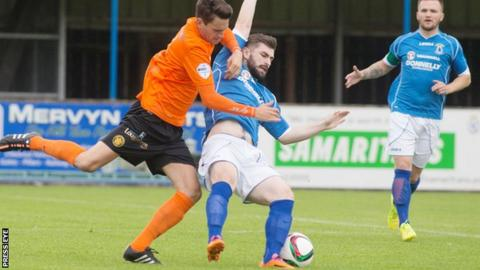 Carrick defeated Dungannon 2-1 at Stangmore Park last August