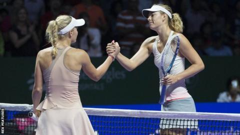 Caroline Wozniacki and Mari Sharapova