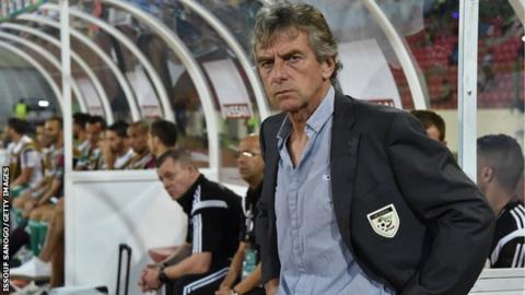 Algeria coach Christian Gourcuff