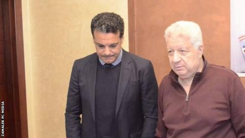 Ehab Galal with Mortada Mansour