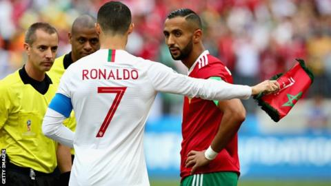 33788150834 World Cup 2018  Referee denies asking Cristiano Ronaldo for shirt in ...