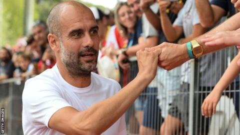 Pep Guardiola took Man City to Girona recently