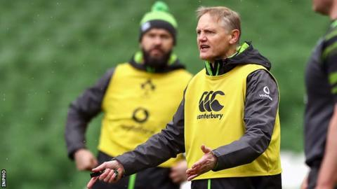 Joe Schmidt (foreground) and Andy Farrell