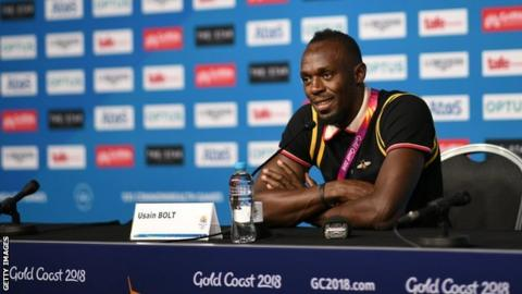 Usain Bolt at the Commonwealth Games in Australia
