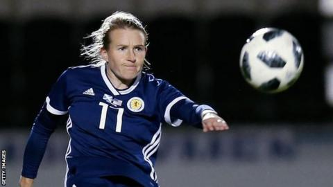 Frankie Brown in action for Scotland