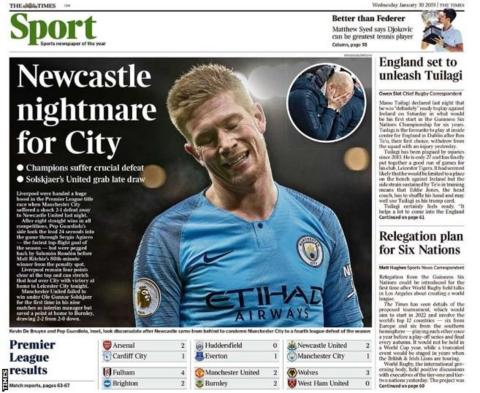Wednesday's Times