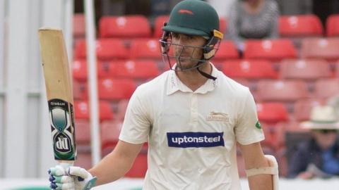 Leicestershire batsman Colin Ackermann