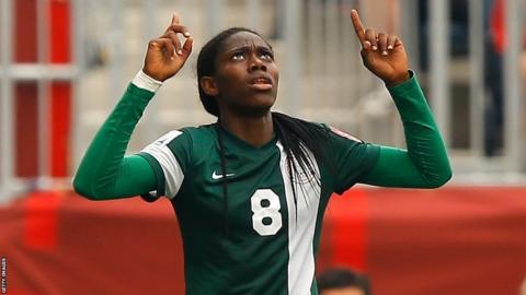 Nigeria international striker Asisat Oshoala