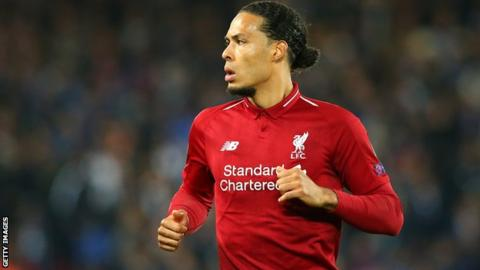 Van Dijk voted English soccer's player of the year