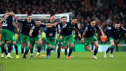 Shamrock Rovers celebrate