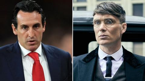 Unai Emery and Cillian Murphy
