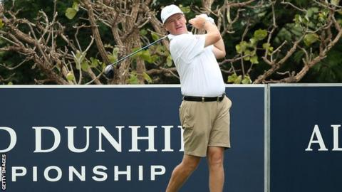 Ernie Els during the pro-am for the Alfred Dunhill Championship