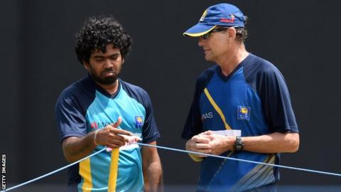 Lasith Malinga and Sri Lanka coach Graham Ford