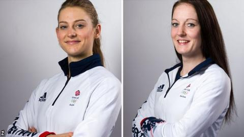 Bryony Page (left) and Kat Driscoll