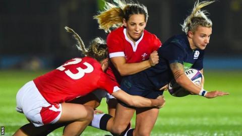 Scotland's Chloe Rollie and Wales' Raige Randall