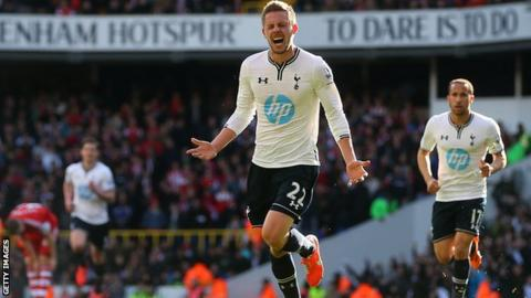 Gylfi Sigurdsson playing for Spurs