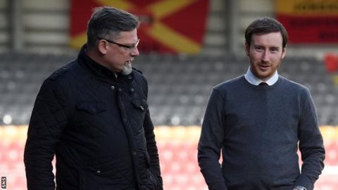 Hearts' director of football Craig Levein and head coach Ian Cathro
