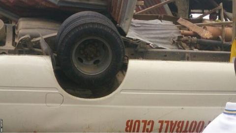 Akwa United team bus