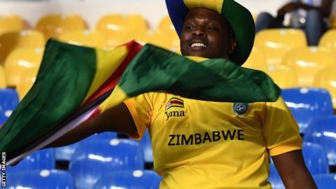 A Zimbabwe football fan