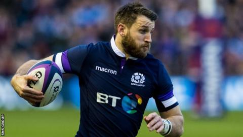 Scotland winger Tommy Seymour returns from a back injury