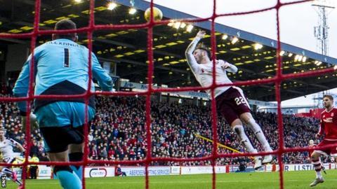 Hearts' Jordan McGhee rises to handle