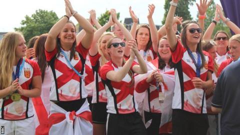 Jersey women celebrate their gold