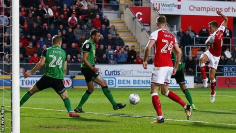 Will Vaulks scores Rotherham United's second goal