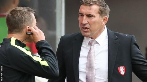 Rotherham manager Alan Stubbs